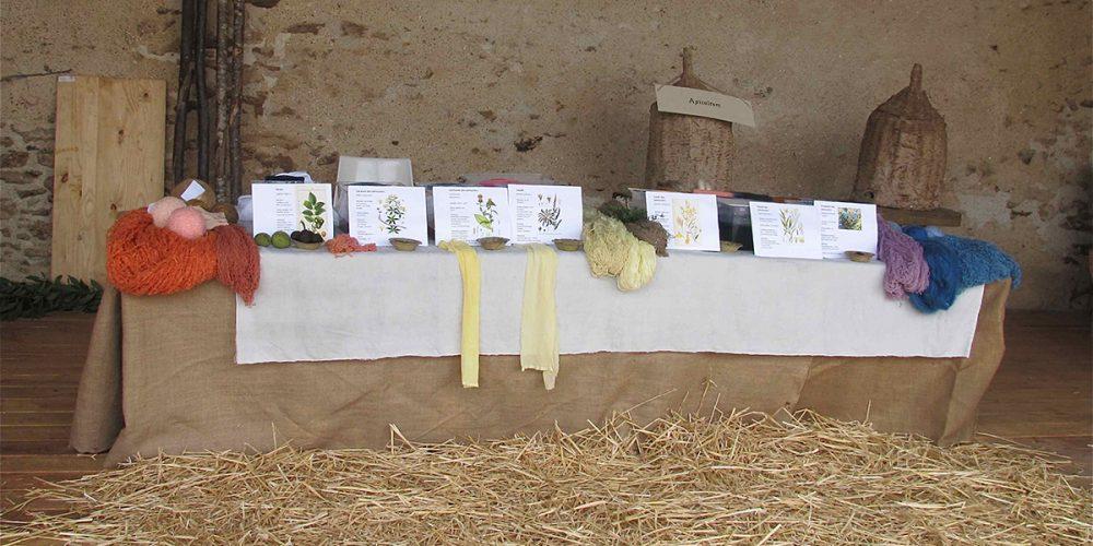 exposition teintures vegetales commanderie